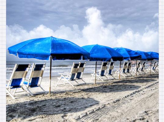 沙滩伞展示