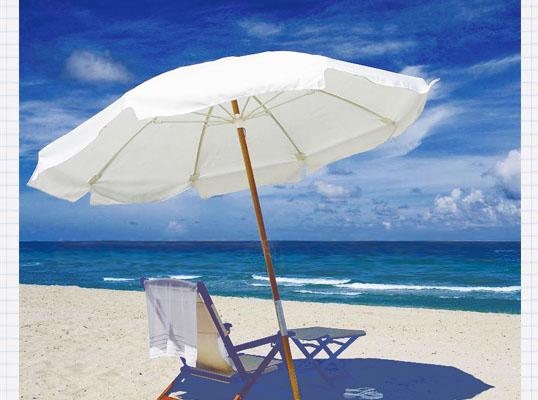 白色沙滩伞