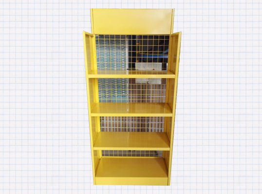 黄色展示柜